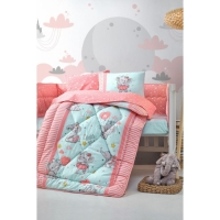 Cotton Box Elephant Pembe Bebek Uyku Seti