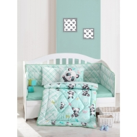 Cotton Box Panda Mint - Ranforce Bebek Uyku Seti