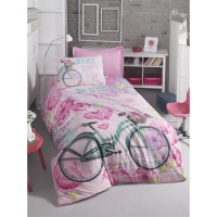 Cotton Box Bike Pembe - Genc Ranforce Nevresim Takimi